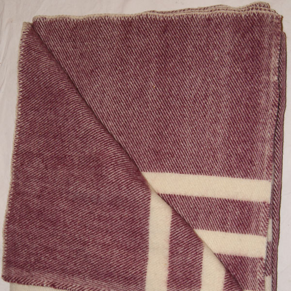 Brook Ridge Farm: Wool Blanket Burgundy Tweed