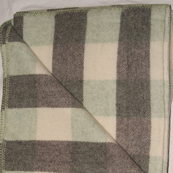 Brook Ridge Farm: green tweed, grey and natural checkerboard