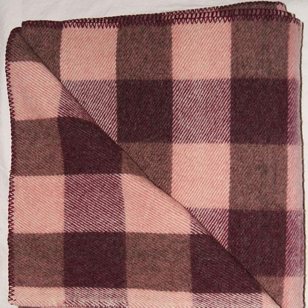 Brook Ridge Farm: pink tweed, maroon and grey checkerboard