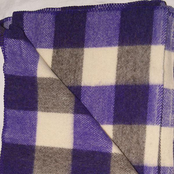 Brook Ridge Farm: purple, grey and natural checkerboard