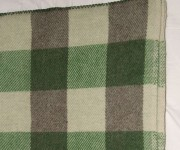 Kelly green, green tweed and dark grey