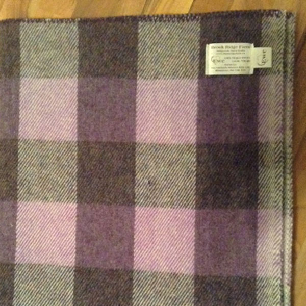 Purple heather, mauve and grey checkerboard