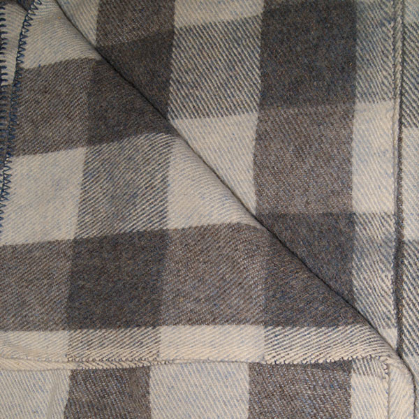 Blue Tweed, Blue Heather and Grey Checkerboard
